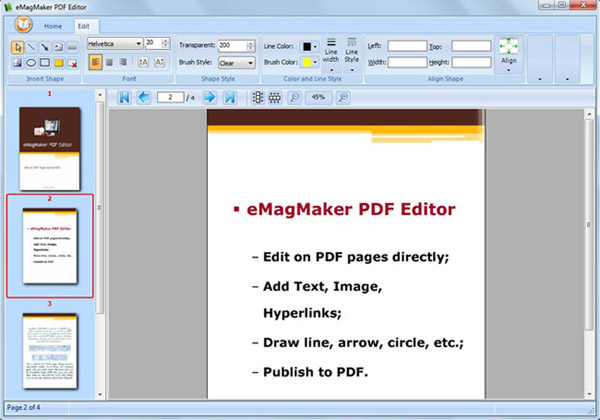 Great PDF Editor for Flipping Book600