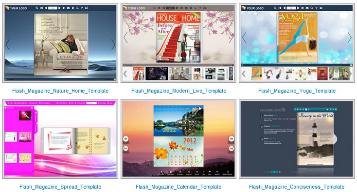 flash magazine templates
