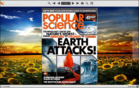 Flash Digital Magazine Maker for iPad screen shot