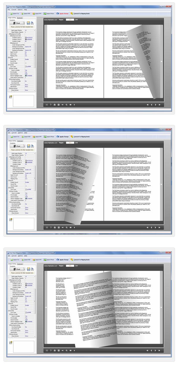 Windows 7 Free Flash Magazine Maker 2.9 full