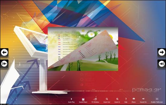 PDF to Digital Magazine Software for iPad full screenshot