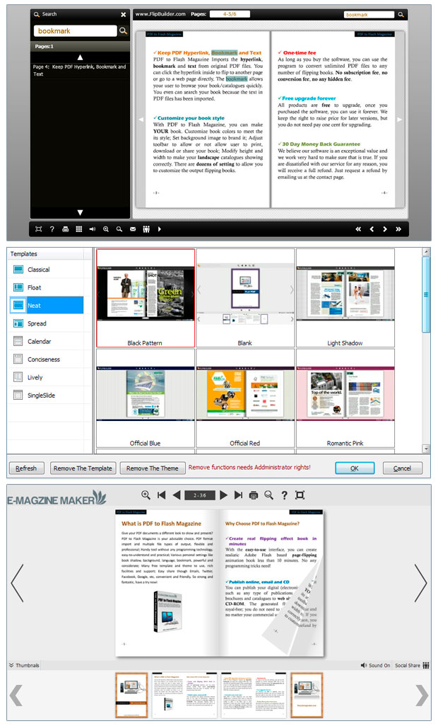 PDF to Flash Magazine Pro for Mac full screenshot