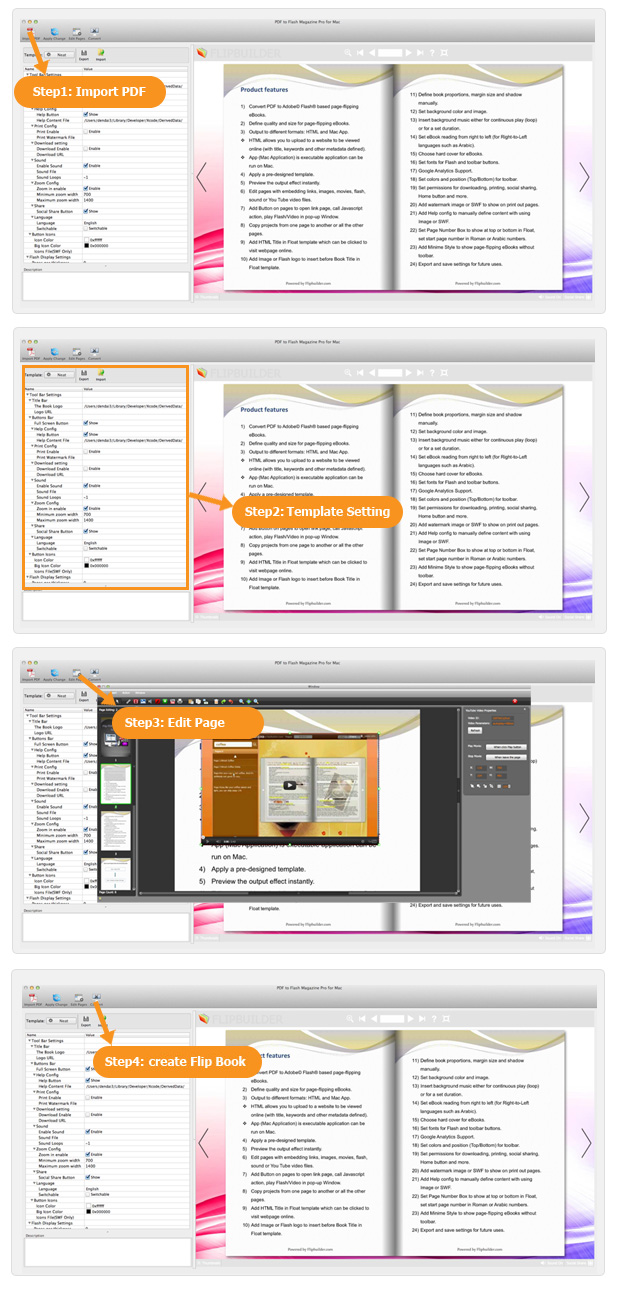 PDF to Flash Magazine Pro for Mac - Make interactive page