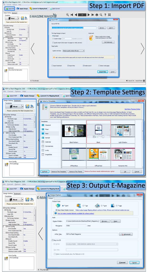 how to flip pdf document