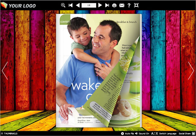 Windows 7 Flash Magazine Themes for Colorful Style 1.0 full