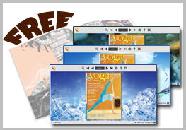 Freeware to create flash catalog from PDF: Flash Magazine Themes for Cool Ice Style