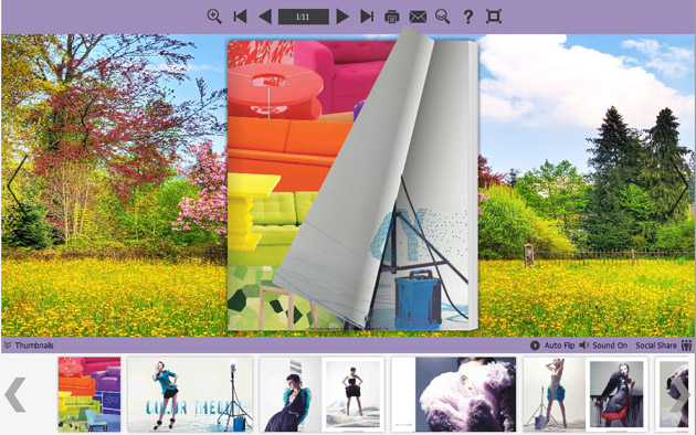 Flipping Book Theme about Colorful World