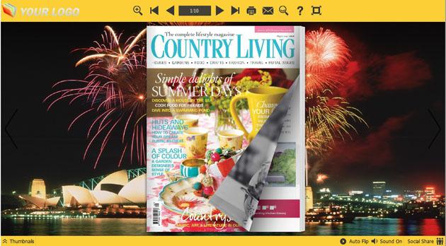 Firework Flash Magazine Templates