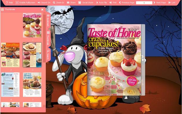 Halloween Pumpkin Flash Template
