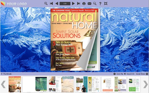 Windows 7 Flip Books Themes about Ice 1.0 full