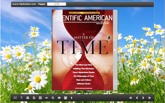 Windows 7 Flash Magazine Themes for White Flower Style 1.0 full